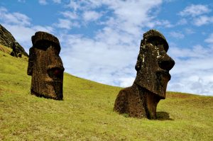 TDF-Rapa-Nui-Two-Moai-Heads-On-Hill-5-11-20